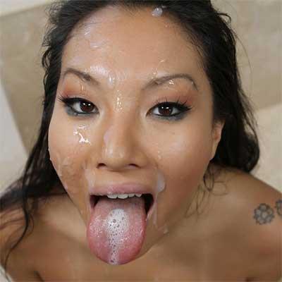 Asa Akira Facial